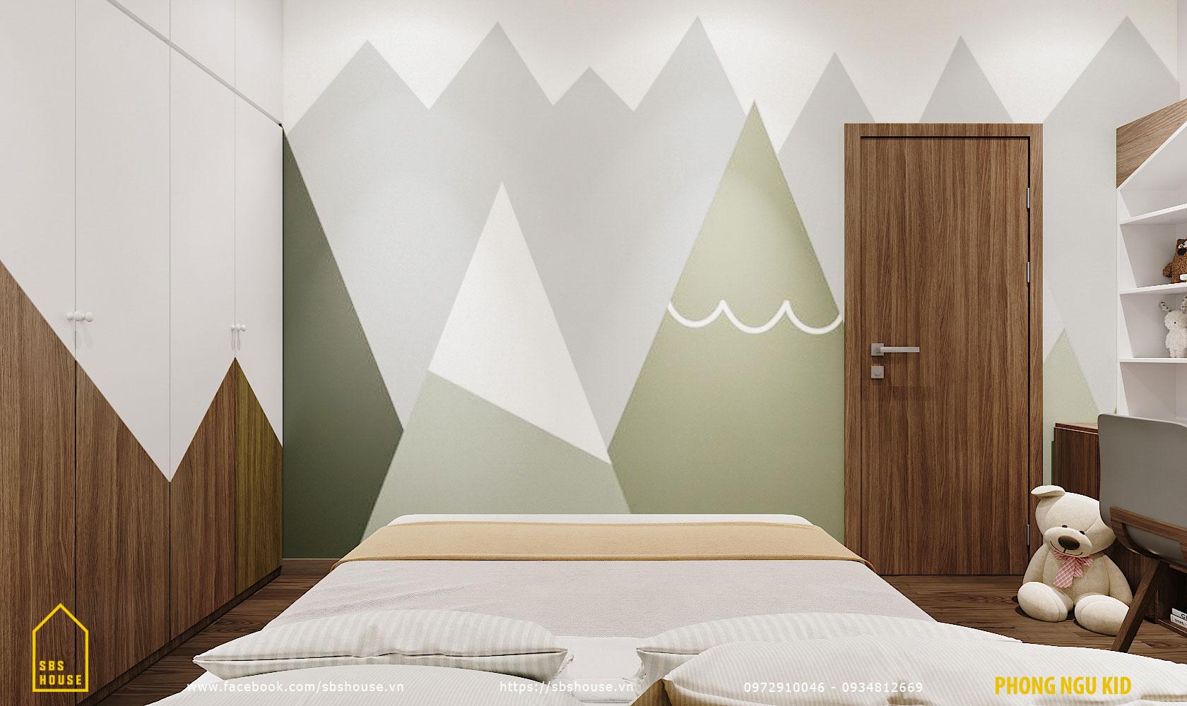 Phòng ngủ bé gái nhẹ nhàng