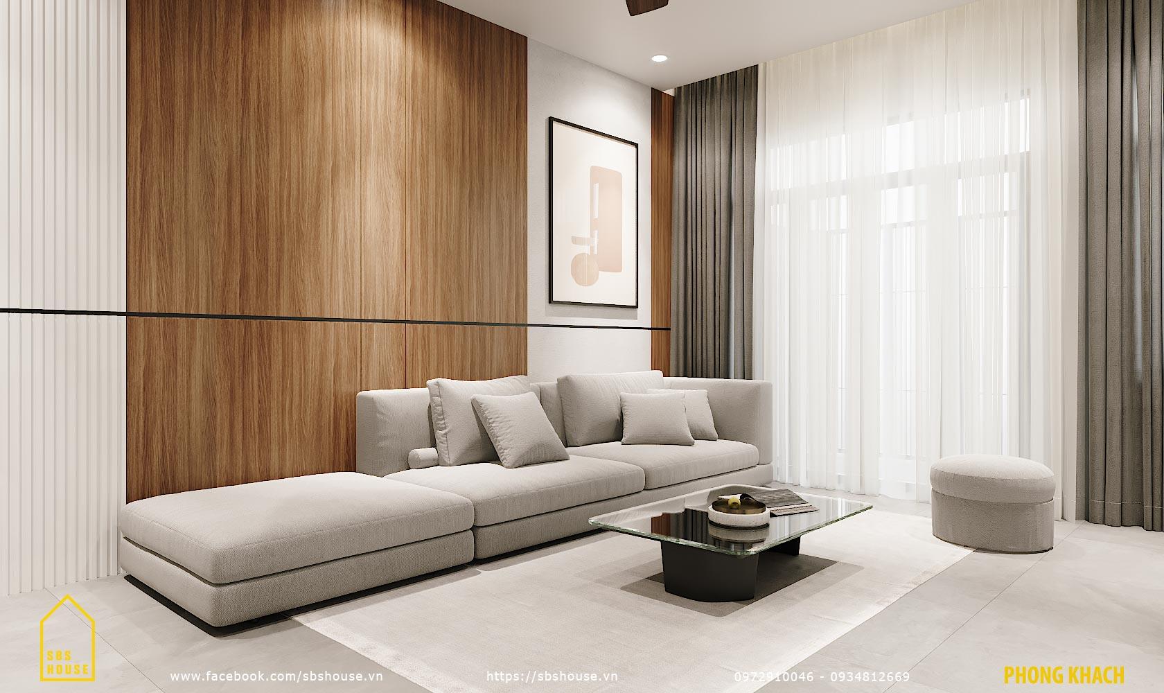 sofa băng dài màu xám trắng
