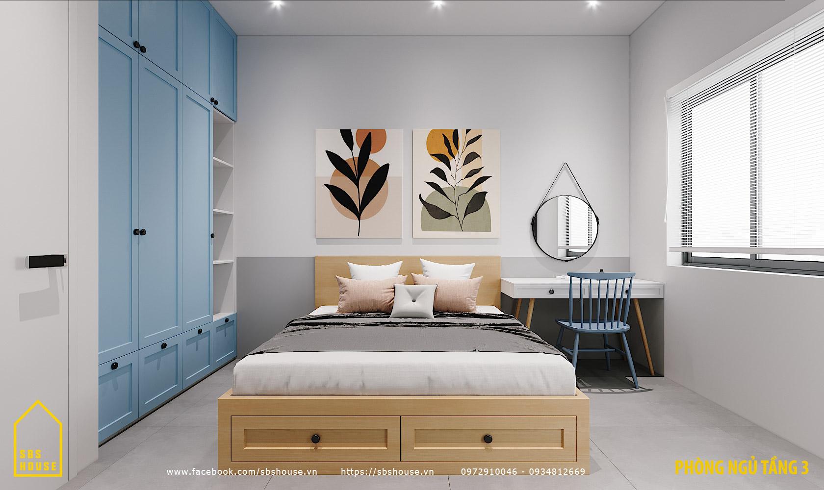 mẫu nhà 3 tầng 3 phòng ngủ tại đà nẵng
