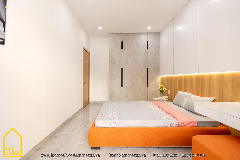 Phòng ngủ master tone màu tươi sáng