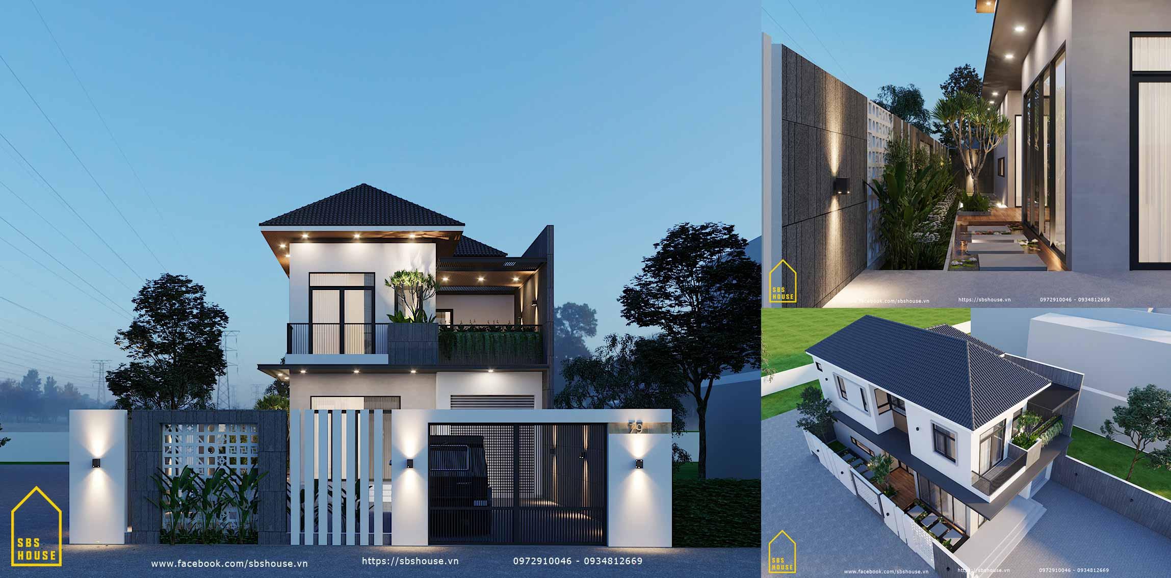 thiết kế nhà 2 tầng ở hcm