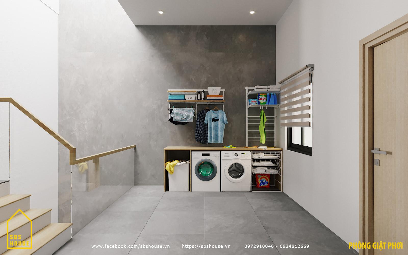 Phòng giặt phơi