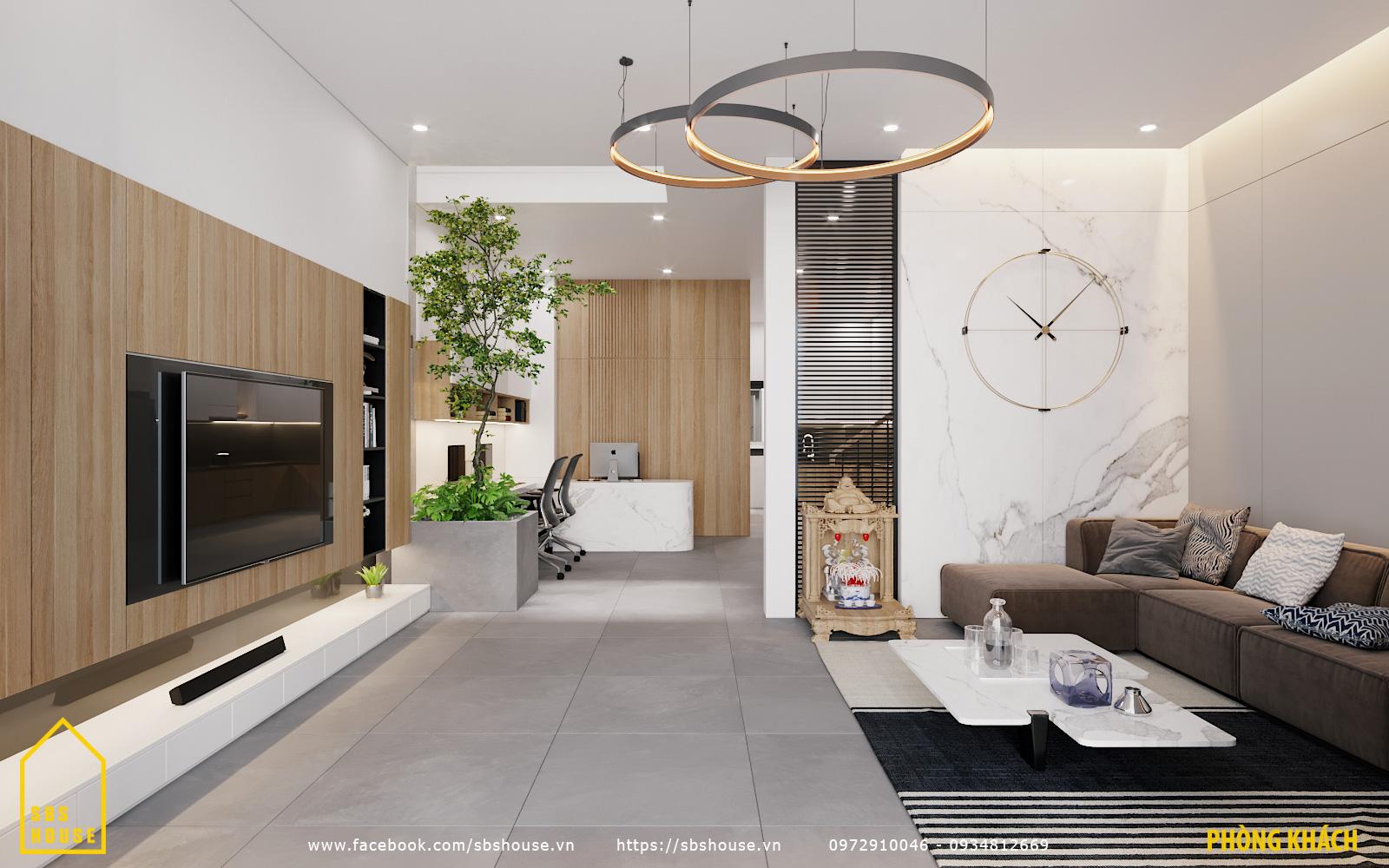 Phòng khách sau khi thiết kế cải tạo