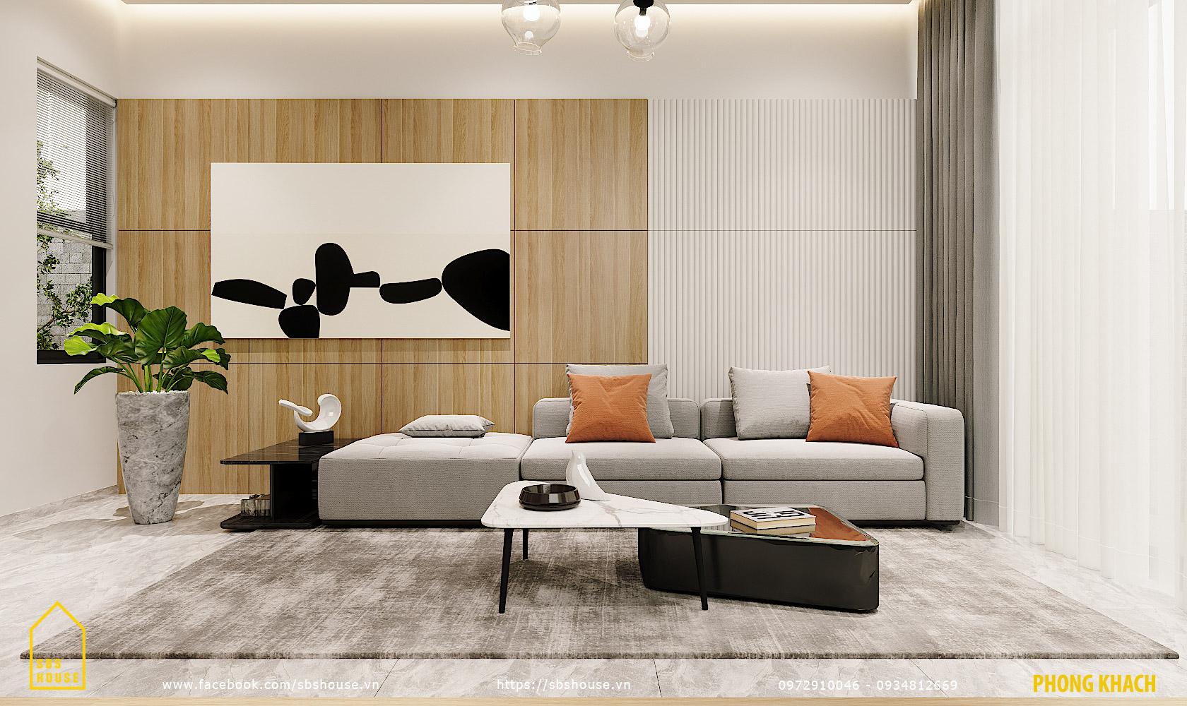 Phòng khách đẹp tràn ngập ánh sáng tự nhiên