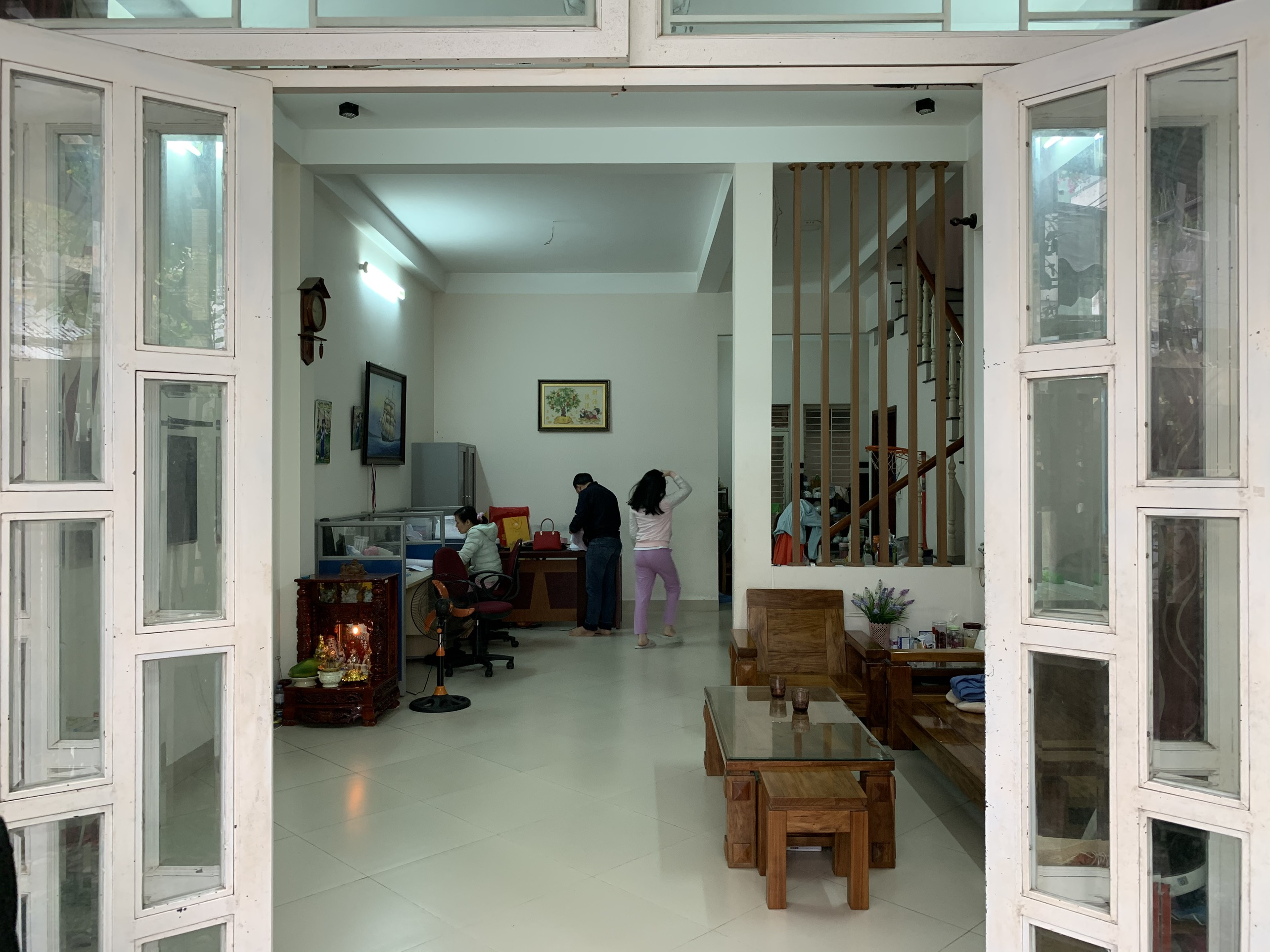 Phòng khách trước khi thiết kế cải tạo