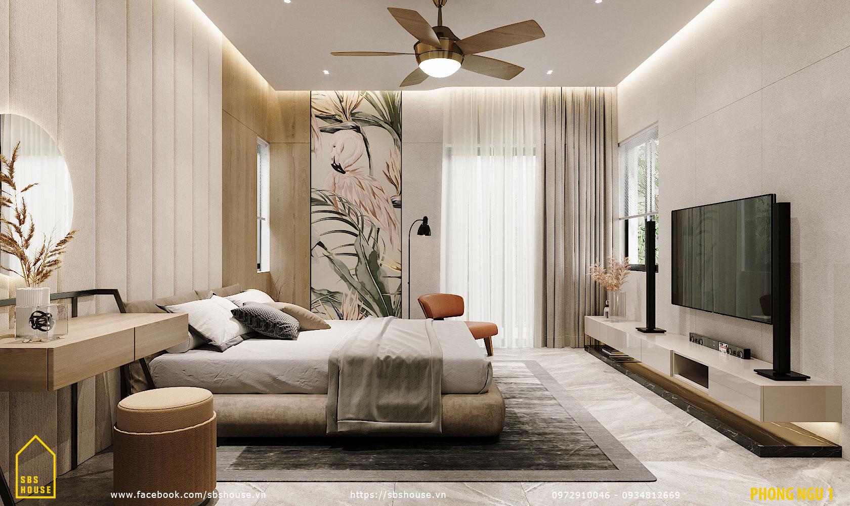 Phòng ngủ master hiện đại, sang trọng