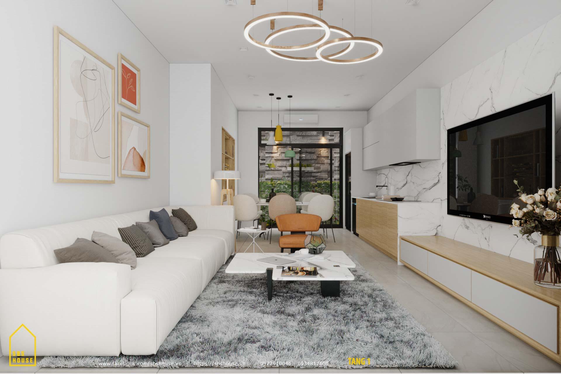 Mẫu phòng khách đẹp và hiện đại.