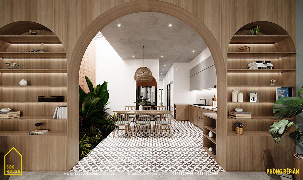 Phòng bếp đẹp.