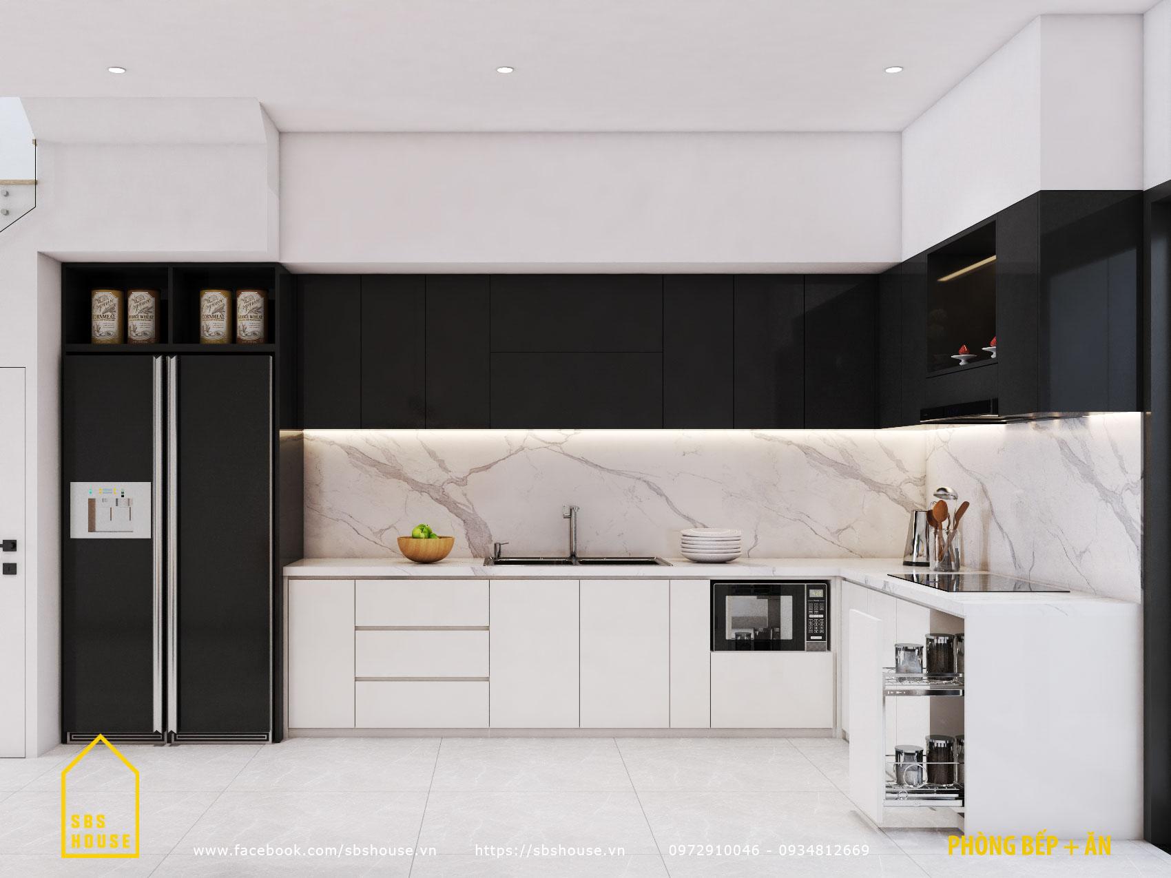 Phòng bếp đẹp đơn giản.