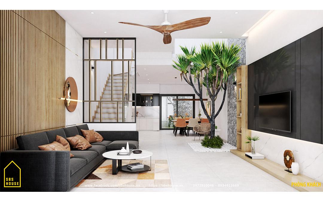 Mẫu phòng khách đẹp nhờ thiết kế tối giản