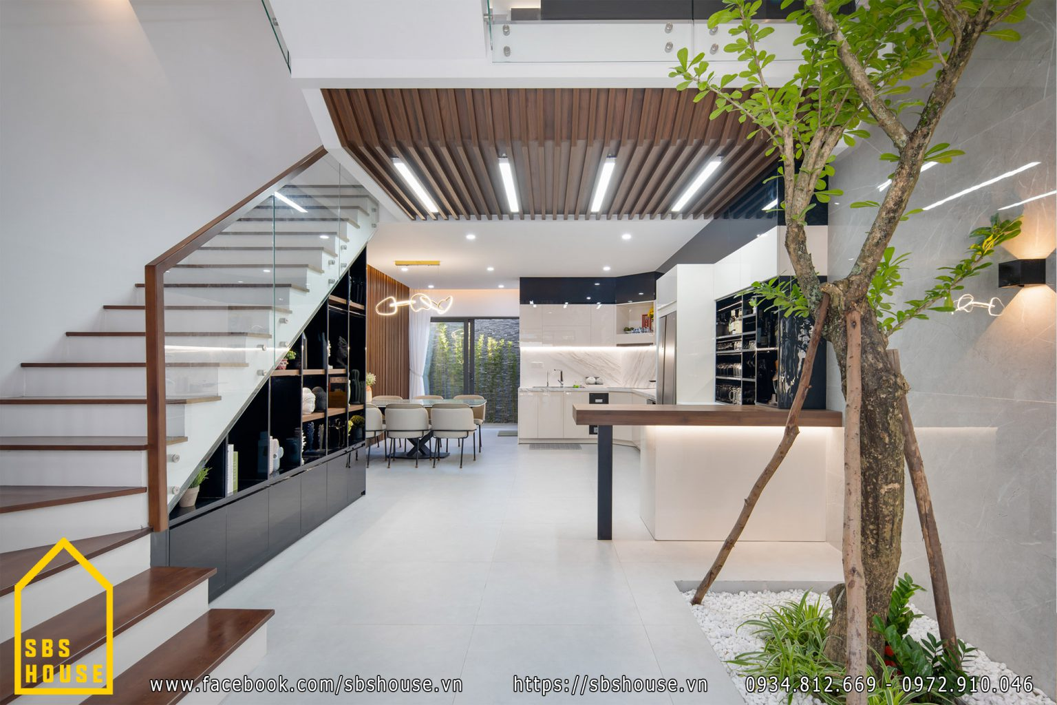 Nhà lệch tầng đảm bảo không gian sinh hoạt rộng rãi