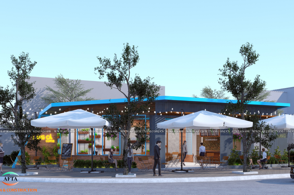 Công trình quán cafe được thực hiện bởi AFTA