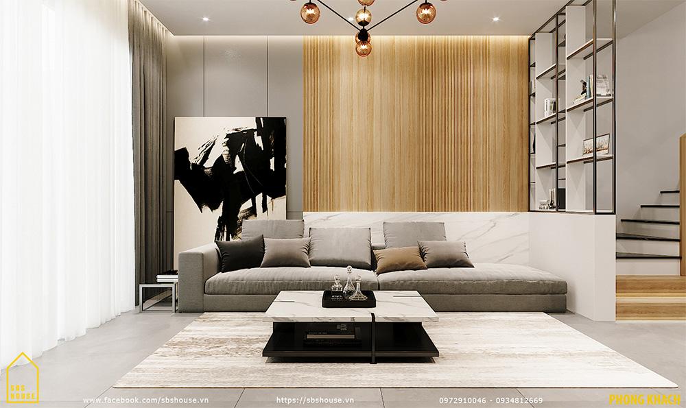 Nội thất phòng khách tối giản
