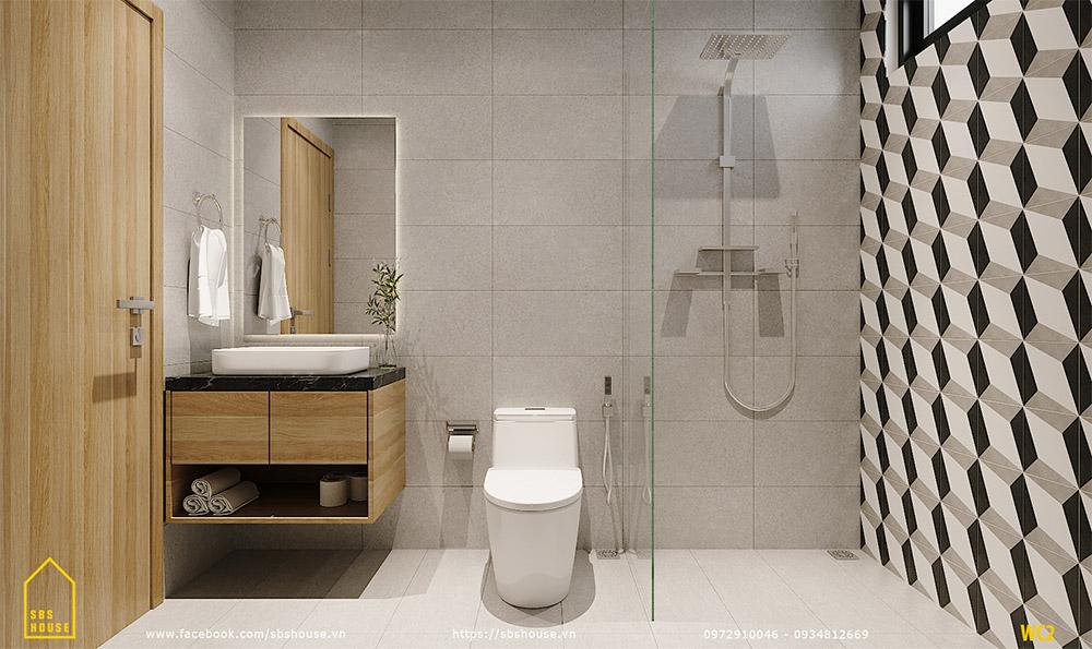 Toilet cũng tối giản và sang trọng