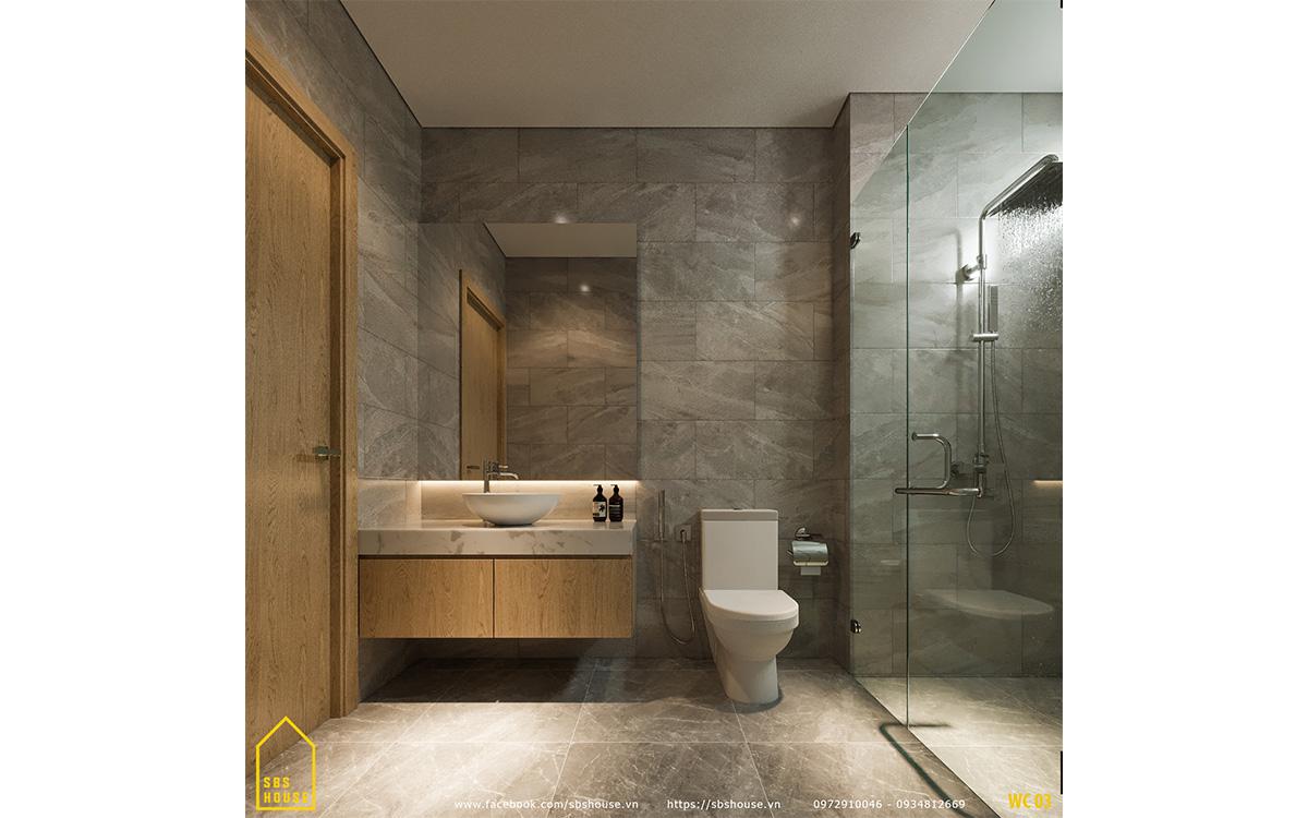 Toilet rộng rãi và tiện nghi
