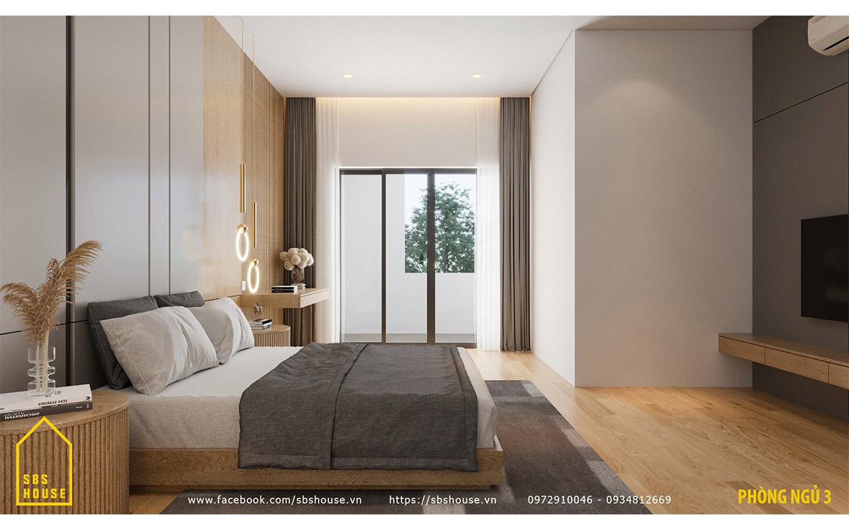 Nội thất phòng ngủ tối giản nhưng hiện đại