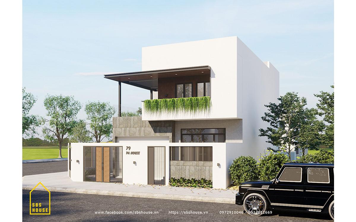 LP's House là ngôi nhà 2 tầng 2 mặt tiền lý tưởng về thẩm mỹ