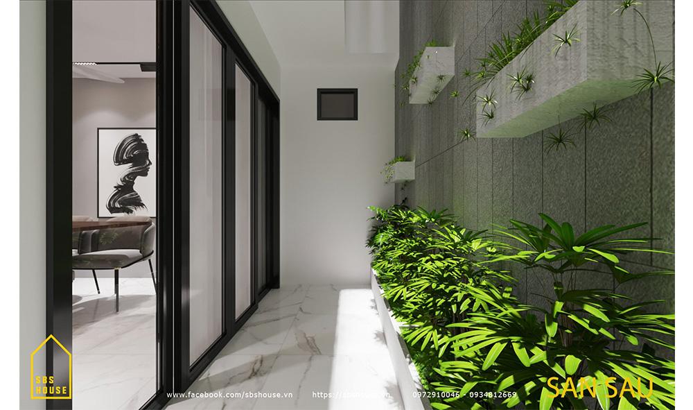 Vườn sau nhà giúp lấy gió và ánh sáng