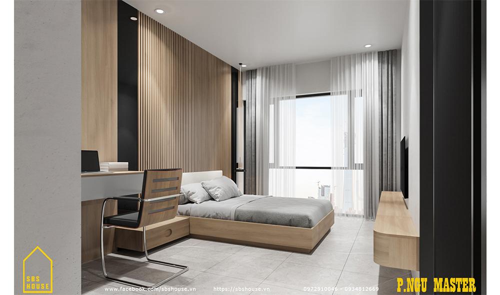 Phòng ngủ master rộng và tiện nghi