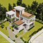 Mẫu nhà vườn 2 tầng 1 tum đơn giản mà sang trọng tại SBS HOUSE