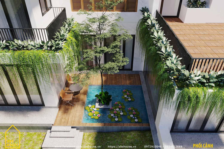 Hồ cá Koi mang lại không gian ngoại thất sang trọng cho ngôi nhà
