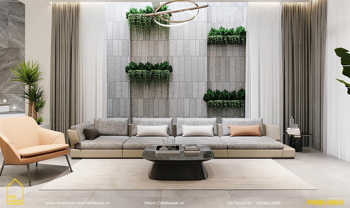 Phong cách của SBS HOUSE là xanh - tối giản - hiện đại