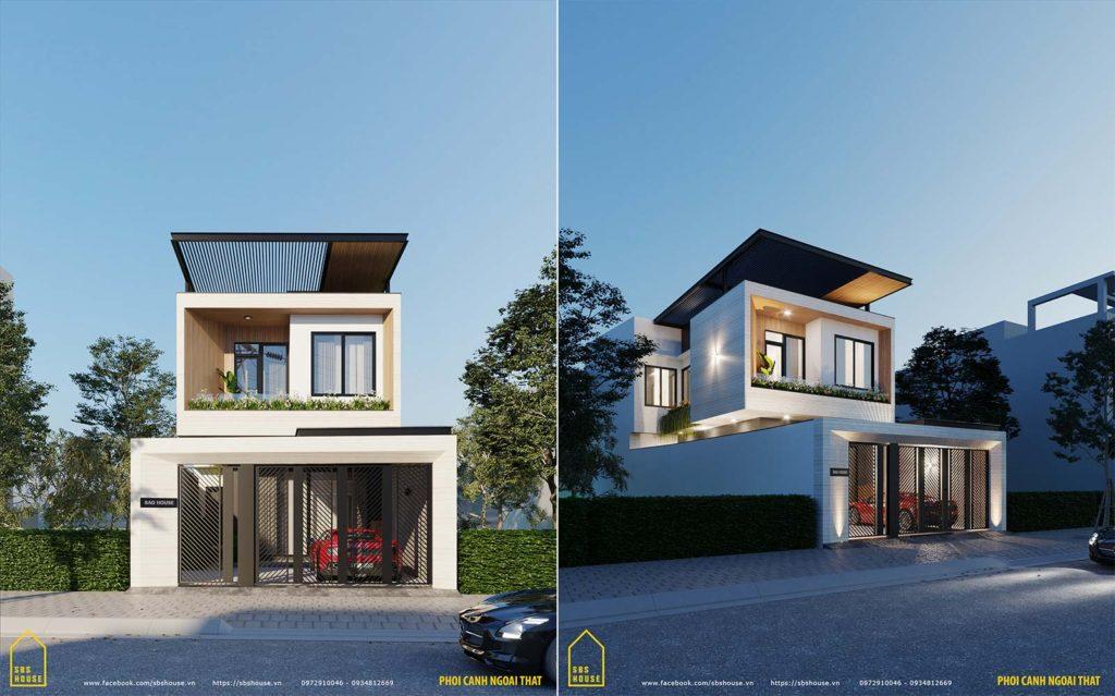 nhà 2 tầng hiện đại