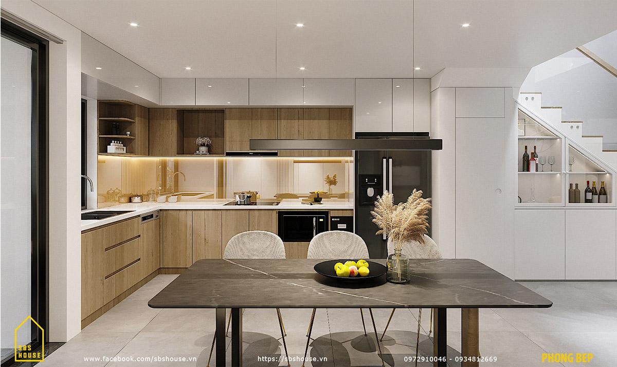 Khu vực bếp và phòng ăn