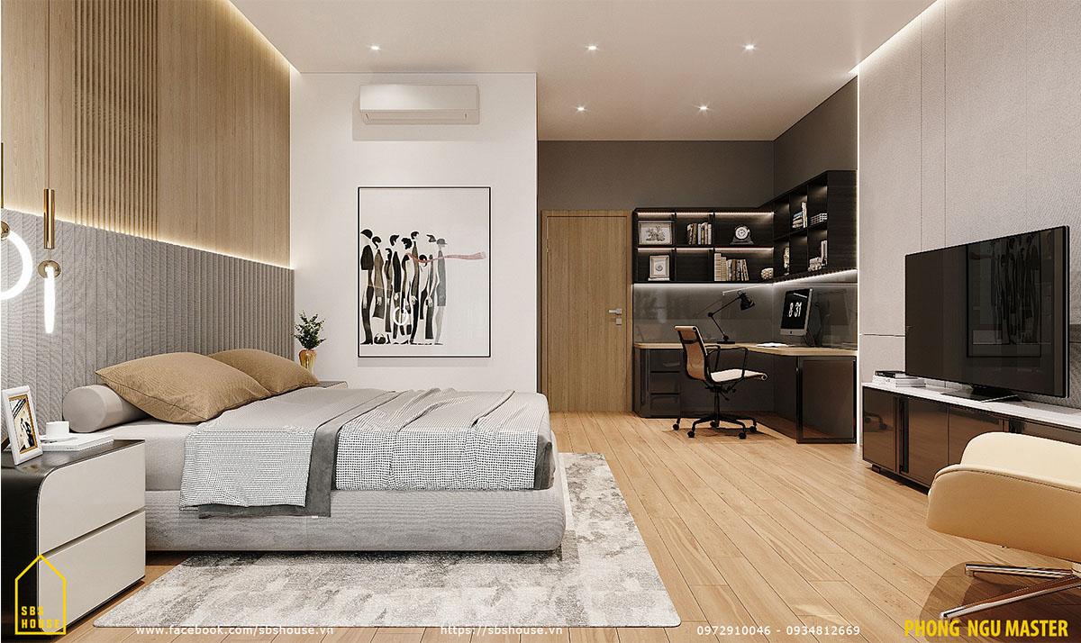 Phòng ngủ master rộng rãi